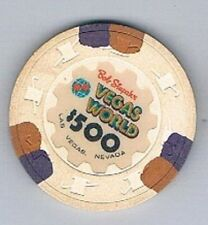 Vegas World Hotel $500.00 Bob Stupak Casino Chip Las Vegas Nevada