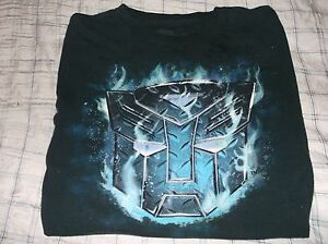 Transformers Boys Large Black Shirt