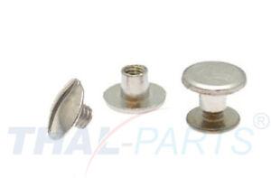 10er Pack Buchschrauben Chicagoschrauben 6mm Kopf 8mm Silbern
