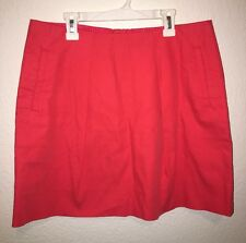J. Crew Women's Melon Summer Pink Stretch Fitted Mini Skirt with Pockets Sz 8