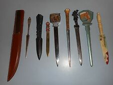 Lot of 9 Unusual Letter Openers World Fair, tape Measure, Germany, Italy andmore