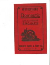 Domestic Gas & Gasoline Engines Instructions for Operating (Reprinted 1975)