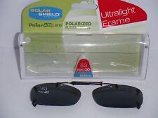Solar Shield 53 Rec 20  Frameless Polarized Clip-on Gray Lenses  Sunglasses
