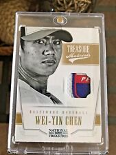 2012 WEI-YIN CHEN NATIONAL TREASURES GAME USED PRIME TAG 8/8 RARE MINT CARD!