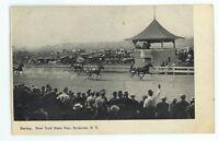 Horse Racing Racetrack New York State Fair SYRACUSE NY Vintage Postcard