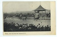 Horse Racing Racetrack New York State Fair SYRACUSE NY Vintage Postcard