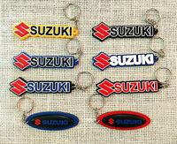 SUZUKI Keychain Rubber Motor GP Racing Keyring Motorcycle Bike Logo Collectables