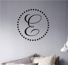 Monogram Polka Dot Vinyl Wall Decal Initials Lettering Words
