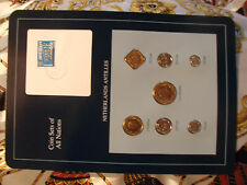Coin Sets of All Nations Netherlands Antilles w/card All 1989 UNC 1,2.5 Gulden