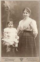 CAB photo Feine Dame mit kleinem Kind - Mannheim 1900er