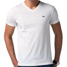new lacoste men 39 s premium sport athletic cotton v neck shirt t shirt. Black Bedroom Furniture Sets. Home Design Ideas