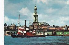 AK  HAMBURG Hafen und Michaeliskirche Schlepper Schifffahrt