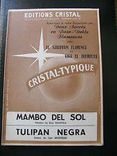 Partitura Mambo del Sol Mambo de Ruiz Manola Tulipan Negra Luis Mostello