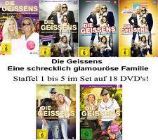 18 DVDs * DIE GEISSENS - EINE SCHRECKLICH GLAMOURÖSE FAMILIE 1 - 5 # NEU OVP !