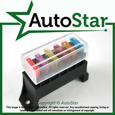 6 Way 12 Volt Standard Blade Fuse Box (ATO/ATC Holder  Kit Car Boat Marine Trike