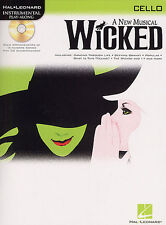 WICKED A new Musical Cello Sheet Music Book + CD NEW