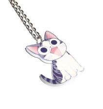 Kawaii Cat Necklace, Chi's Sweet Home, Cute Kitten Pendant, Anime