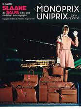 PUBLICITE ADVERTISING 024   1969   MONOPRIX  sacs bagages SLAANE de SALPA