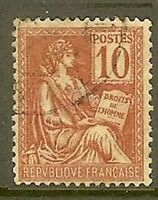 """FRANCE TIMBRE STAMP N°116 """"TYPES MOUCHON, TYPE II, 10 C ROUGE"""" OBLITERE TB"""