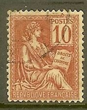 "FRANCE TIMBRE STAMP N° 116 "" MOUCHON , TYPE II, 10 C ROUGE "" OBLITERE TB"