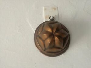 Mould Period Copper Formella Vintage X Pudding Sweet With Hook 16 CM