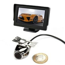"4.3"" TFT LCD Color Monitor + Car Rear View System Backup Reverse Camera Kit New"