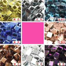 100X Square Glass Mirror Mosaic Tiles Diy Home Bathroom Wall Stickers Decoration