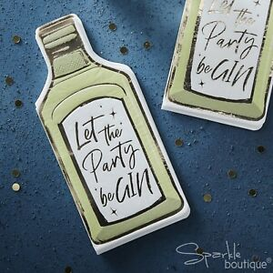 'Let the Party beGIN' Napkins - Gin Lover - Festive Party -Metallic Gold Details