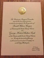 Authentic 1981 President Ronald Reagan Inauguration Invitation George H.W. Bush