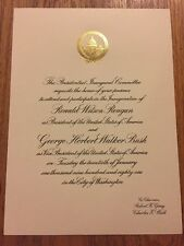 Authentic 1981 President Ronald Reagan Inauguration Invitation George H.W. Bush