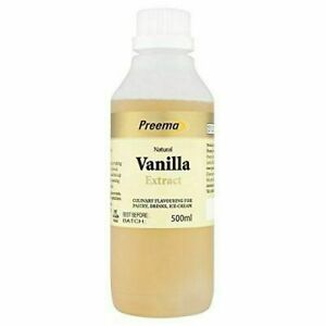 6 x 500ml Preema Natural Vanilla Extract -  Bakery and Cake baking cafe essence