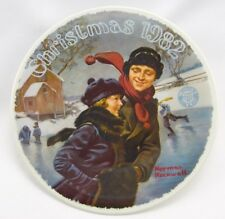 "Knowles-NORMAN ROCKWELL-CHRISTMAS-1982-""CHRISTMAS COURTSHIP"" NLE plate-USA-NEW!"