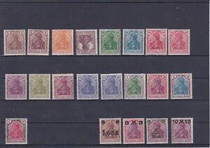 1920/21 Germania mit Kaiserkrone Mi. Nr. 140-157 Postfrisch ** ANSEHEN und LESEN