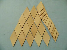 25 Scrap Veg-Tan Leather Diamond Pieces Patches For Leather Crafts Crafting