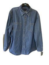 Lands End Denim Shirt - Size XXL
