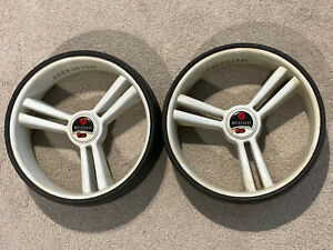 Pair of Motocaddy Golf Trolley Wheels - Good Used Condition - 9.5cm Wide