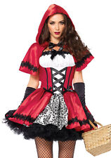Leg Avenue 85230 Gothic Red Riding Hood Red Costume Carnival S-XL 34-46
