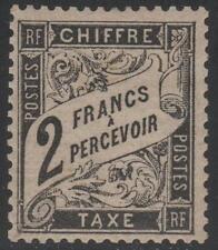 "FRANCE STAMP TIMBRE TAXE N° 23 "" TYPE DUVAL 2F NOIR "" NEUF x TTB RARE  K381"