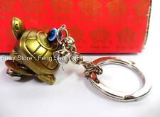 Feng Shui Chinese Japanese Lucky Key Chain Ring Turtoise Turtle Charm Figurine