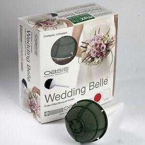Floristry 2 x wet foam 7cm Wedding Belle Bouquet Holder Wedding re-fillable cage