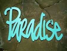 Paradise Metal Sign-Nautical Beach Tropical Ocean Tiki Bar Island Pool Deck