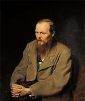 Oil painting Vasily Perov - Portrait of Fedor Dostoyevsky seated no framed art