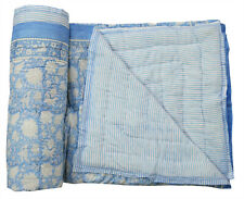 New Indian Doctor Cotton Quilt Hand Block Print Reversible Traditional Coverlet
