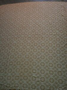 Vintage bedspread/sofa throw/blanket - mustard/gold colour approx 245 x 210 cm.