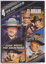 4 FILM FAVORITES JOHN WAYNE (DVD, 2013, 4-Disc Set) NEW