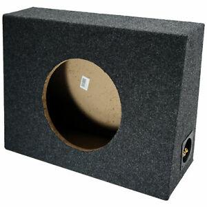 "Single 10"" Subwoofer Shallow Standard Cab Truck Sub Box Enclosure Speaker Slim"