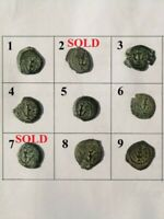 Herod I The Great Ancient Judea Authentic Bronze Prutah Anchor Old Coin 40-4 BCE