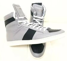 72a3cc447b47 New Saint Laurent SL10H Gray Black Court Classic High Top Sneakers Sz 46 Us  13