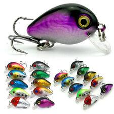 10Pcs Mini Fishing Lures Crankbait Lot Minnow Fish Bass Tackle Hooks Crank Bait