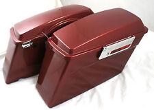 Mutazu Fat Ass Wide Fire Red Hard Saddlebag Fits Harley Touring Road glide King